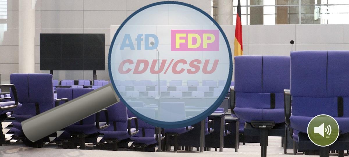 Klima-Wahlprogramm-Check Teil 1: AfD, CDU/CSU und FDP